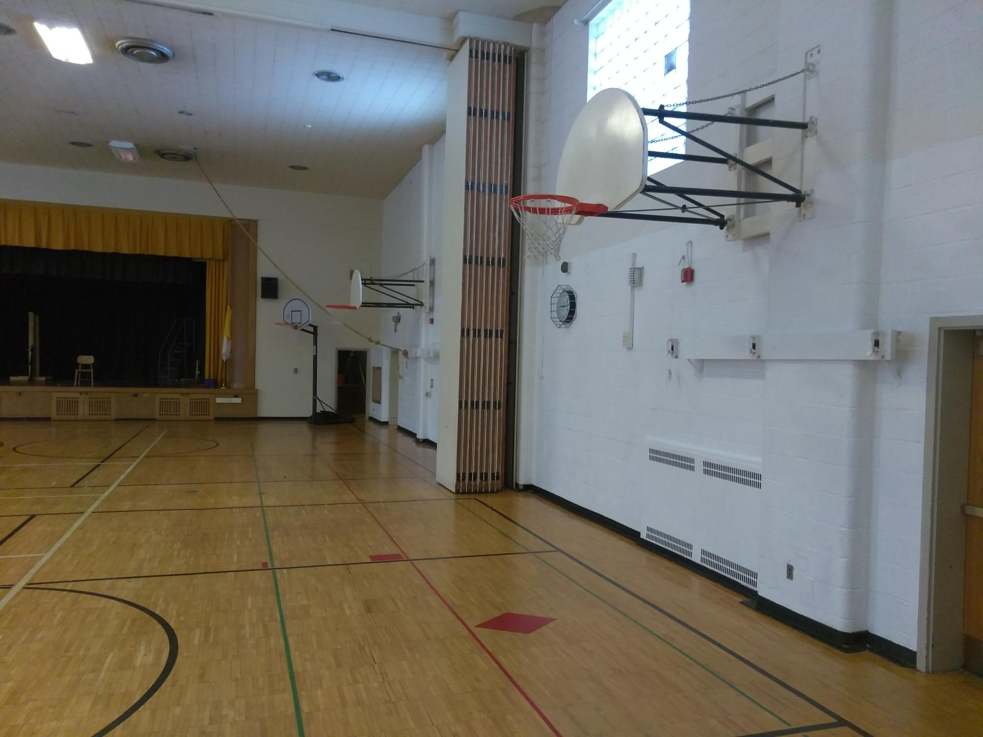 Newly painted Gym